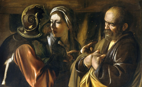 The Denial of Peter (Caravaggio 1610)