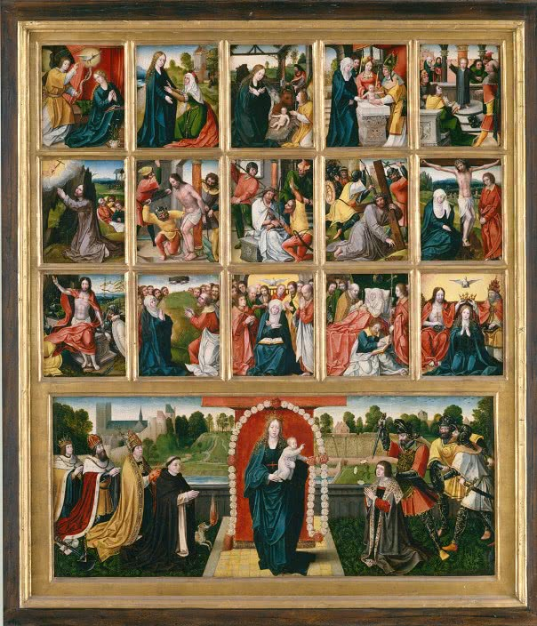 15 mysteries of the Rosary (expanded to 20 by Saint John Paul II).
