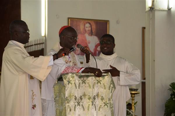 Son Eminence a tenu des propos très aimables et encourageants