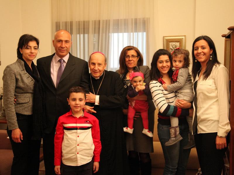 المونسنيور خافيير اتشيفاريا خلال زيارته الرعويّة إلى لبنان في نيسان 2013