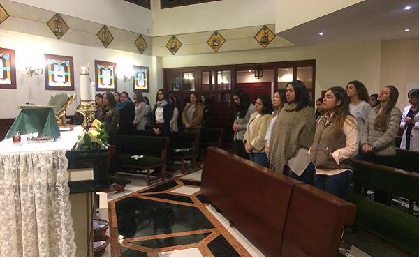 Algunas de las asistentes a la Misa que se celebró por los 90 años del Opus Dei
