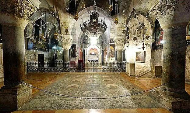 Capella de Santa Helena a la Basílica del Sant Sepulcre a Jerusalem