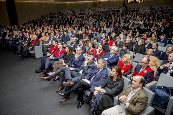 El sábado 16 de febrero tuvo lugar el acto central del 75 aniversario del Colegio Mayor Moncloa para residentes, antiguos residentes y sus familias