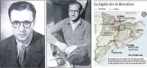 Escrivá de Balaguer i el doctor Jiménez Vargas, cervell de la sortida de Barcelona