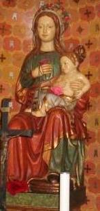 Imagen de la Virgen en la ermita de Torreblanca.