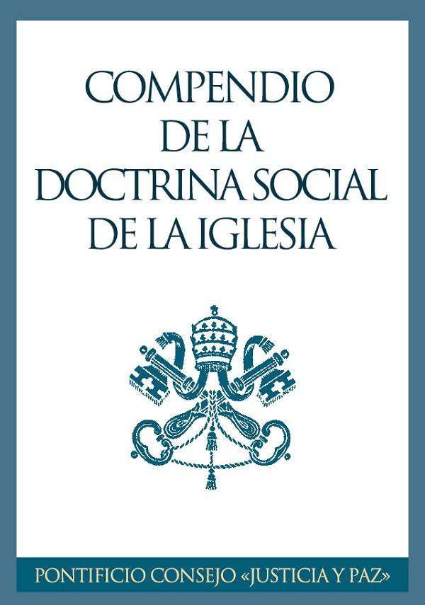 """Portada del libro electrónico """"Compendio de la Doctrina Social de la Iglesia"""", editado por la Oficina de información del Opus Dei."""