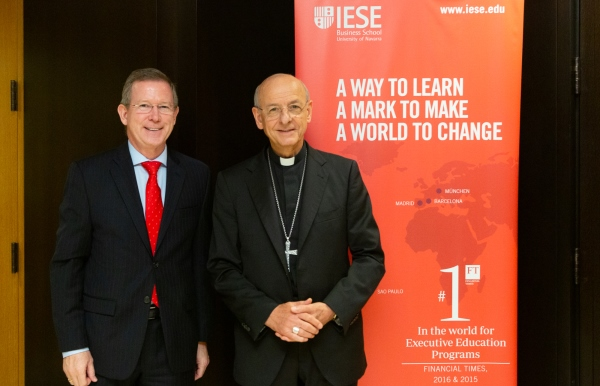Eric Weber gave the Prelate a tour of the IESE New York campus.