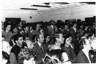 Vista general de una tertulia en la Universidad de La Sabana.