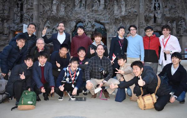 En la Sagrada Familia, gracias a la audio-guía en japonés pude comprender con más profundidad las características de la iglesia y las ideas de Gaudí