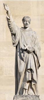 François Jouffroy, statue de Saint Bernard (1859), Cour Napoléon, Louvre.