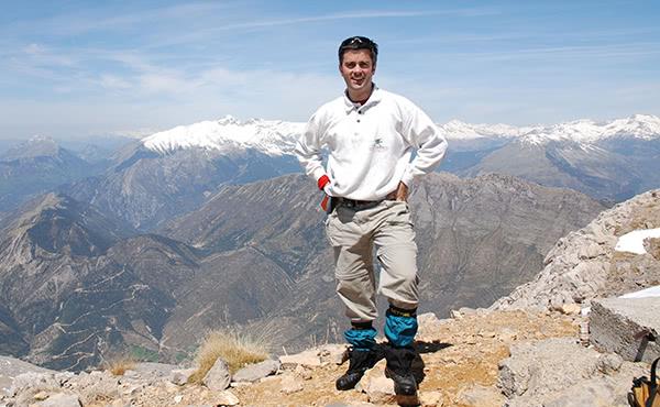 Mn. Alejandro Vázquez-Dodero d'excursió a Benasque abans de ser mossèn.