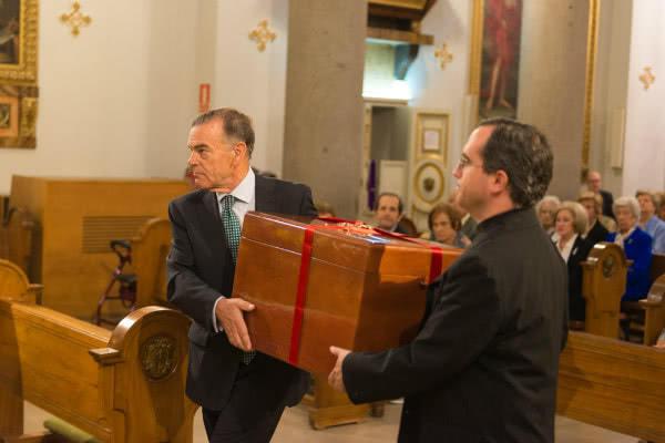 El obispo auxiliar de Madrid reiteró que la llegada de los restos a Madrid era un motivo de gratitud por la vida de la propia sierva de Dios y por el Opus Dei.