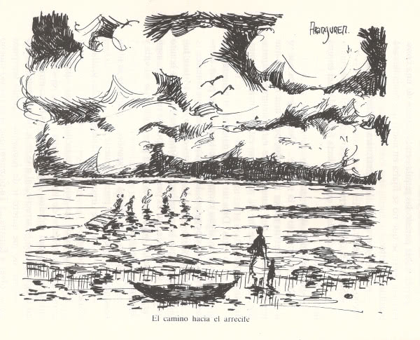 Illustration of walk to the reef