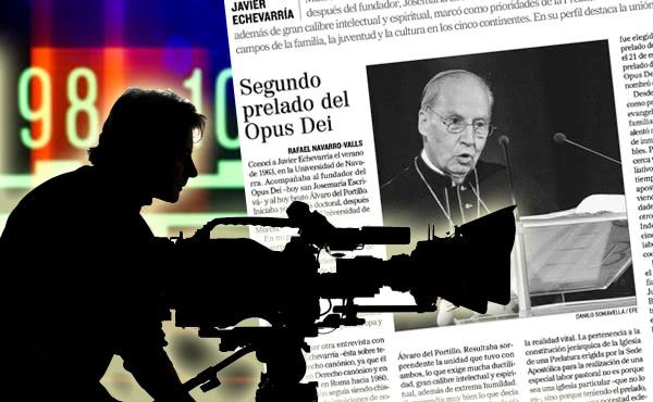 Opus Dei - El fallecimiento del prelado del Opus Dei, en los medios de comunicación