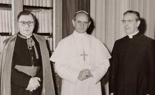 Opus Dei - Paolo VI, san Josemaría Escrivá e il beato Álvaro del Portillo: un'antica amicizia