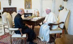 O Papa Francisco recebe o Prelado