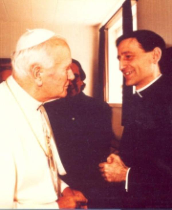 """Johannes Paavali II: """"Olet tullut Suomeen tekemään Opus Deitä""""."""