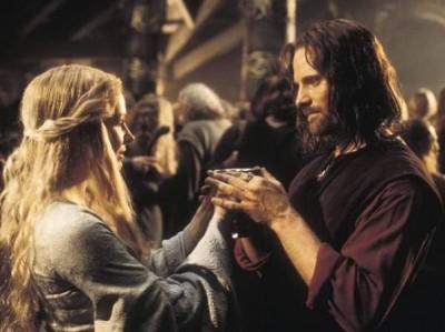 Aragon y Eowyn
