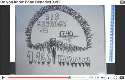 Teníamos ideas sobre el Papa, una cámara de fotos de un amigo y suficiente habilidad para poder hacer algunos dibujos...