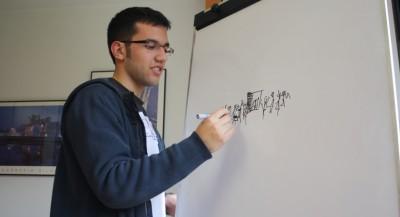 Santi, editor del vídeo