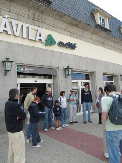 La romería comenzó en la estación de tren de Ávila