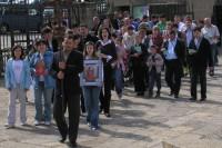 Procesión de las familias rumanas en Torreciudad