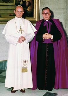 Pablo VI y el Fundador del Opus Dei.