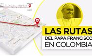 Recorrido y agenda del Papa en su visita a Colombia