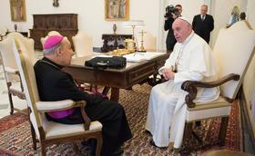 Paavi Franciscuksen osanottoviesti prelaatin kuolemasta