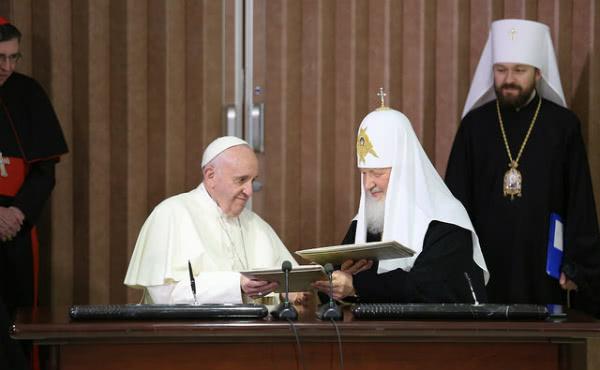 Opus Dei - Спільна декларація Папи Франциска і Кирила, Патріарха Московського і всієї Русі
