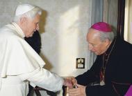 Privé-audiëntie prelaat met paus