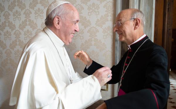 """Audience avec le pape François : """"Suivez l'exemple des premiers chrétiens""""."""