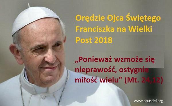 Orędzie Ojca Świętego Franciszka na Wielki Post 2018