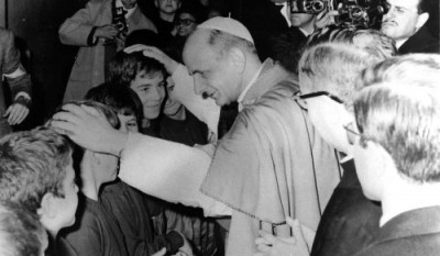 Paul VI, le jour de l'inauguration du Centre Elis, à Rome