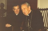 Fr Philip Sherrington (1943-1995) with Mgr del Portillo in Glasgow in 1987
