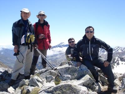Con mis amigos en Pico Peña Prieta