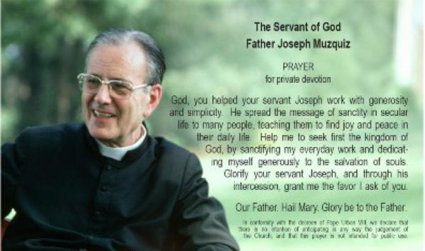 Prayer for Fr. Joseph Muzquiz's intercession