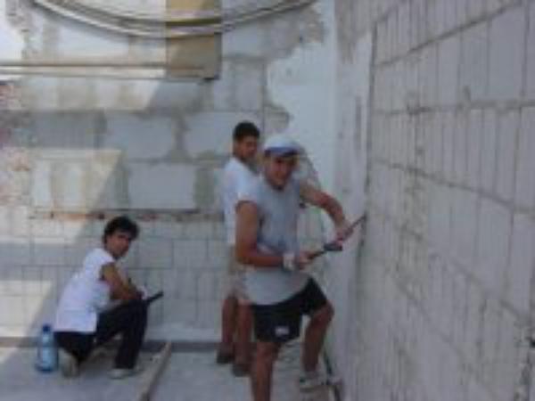 Voluntarios de la brocha