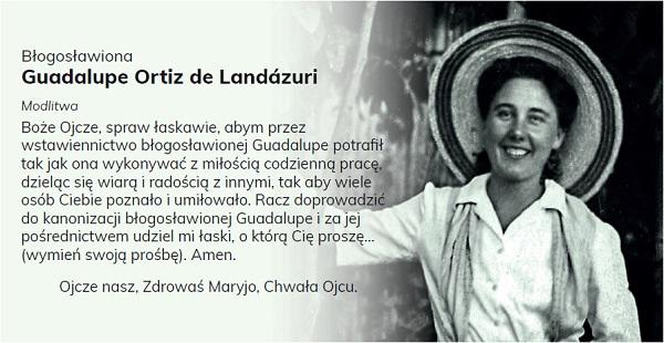 Opus Dei - Modlitwa do Guadalupe Ortiz de Landázuri