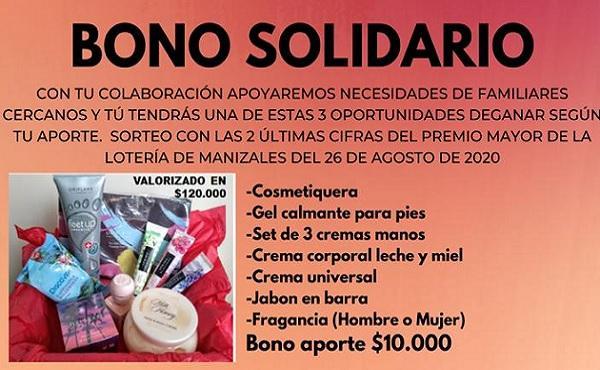 Bono solidario: una oportunidad de ser solidarios