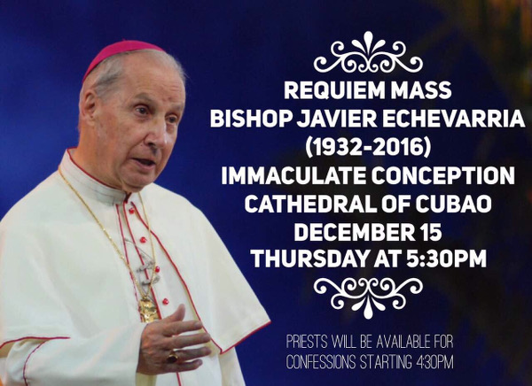 Opus Dei - Requiem Mass for Bishop Javier Echevarria at the Cubao Cathedral