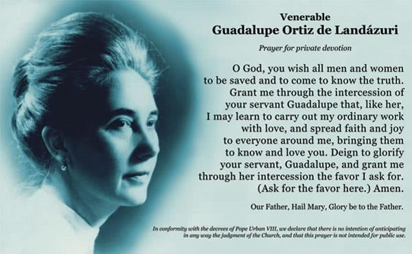 Opus Dei - Prayer for Guadalupe's intercession