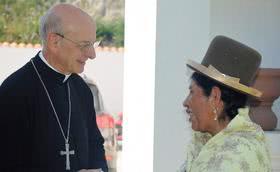 """Voyage pastoral en Bolivie : """"L'apostolat c'est d'aimer les gens""""."""