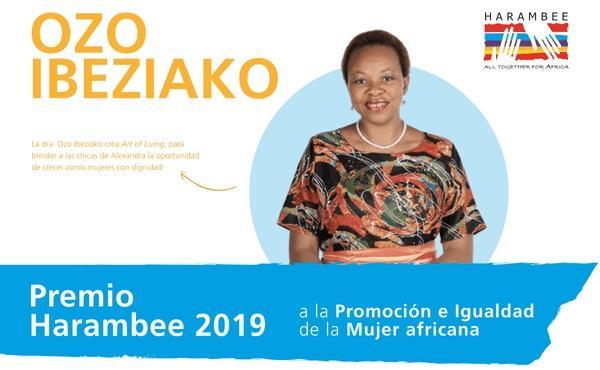 Desayuno informativo: Premio Harambee 2019 a la Promoción e Igualdad de la Mujer Africana