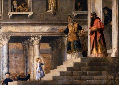 Marias frambärande i Templet. Tizian