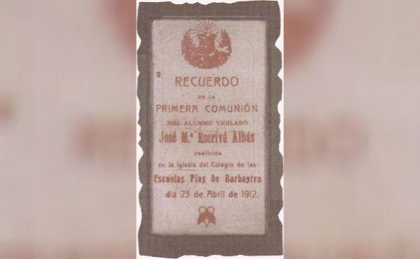 La prima Comunione di san Josemaría