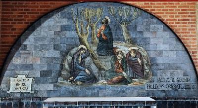 'La oración de Jesús en el Huerto': primer misterio doloroso (escena del Santo Rosario del Santuario de Torreciudad)