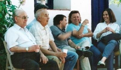 Con mis padres en una fiesta del club Filabres