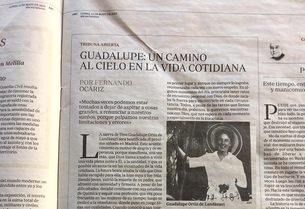 Article by the Prelate Published in ABC, Madrid - Opus Dei