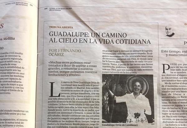 Članak Prelata objavljen u novinama ABC, Madrid